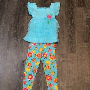 Girls matching leggings and top
